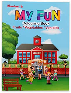 Coloring Book Fruits Vegetables Vehicles
