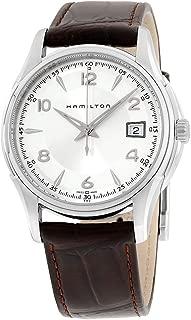 hamilton men's hml h32411555 jazzmaster silver dial watch