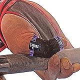 JerkFit Noppen Daumenschutz für Hakengriff, Olympisches Gewichtheben, Powerlifting, Gymnastik, verhindert Schwielen, Blasen und Tränen, 1 Paar (lila, klein)