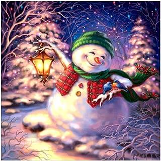 Nstcher 5D Diamond Painting Christmas Snowman Embroidery DIY Cross Stitch Home Decor