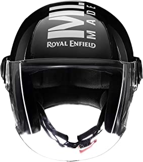 Royal Enfield Gloss Black Open Face with Visor Helmet Size (XL)60 CM (RRGHEL000042)