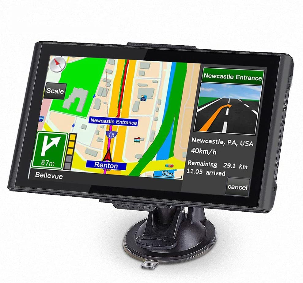 GPS Navigation for Car, Latest 2021 Map 7 inch Touch Screen Car GPS 256-8GB, Voice Turn Direction Guidance, Support Speed and Red Light Warning, Pre-Installed North America Lifetime map Free Update