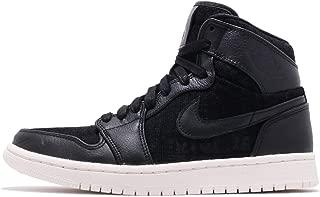 Jordan Air 1 Women's Retro High Premium Shoe (Black/Black, 8.5 M US)