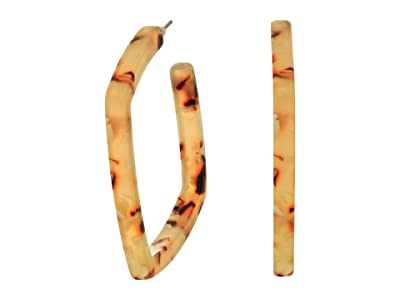 J.Crew Square Acetate Hoops Earrings (Flirty Peach) Earring