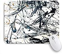 ECOMAOMI 可愛いマウスパッド 抽象芸術創造的な手描きの背景 滑り止めゴムバッキングマウスパッドノートブックコンピュータマウスマット