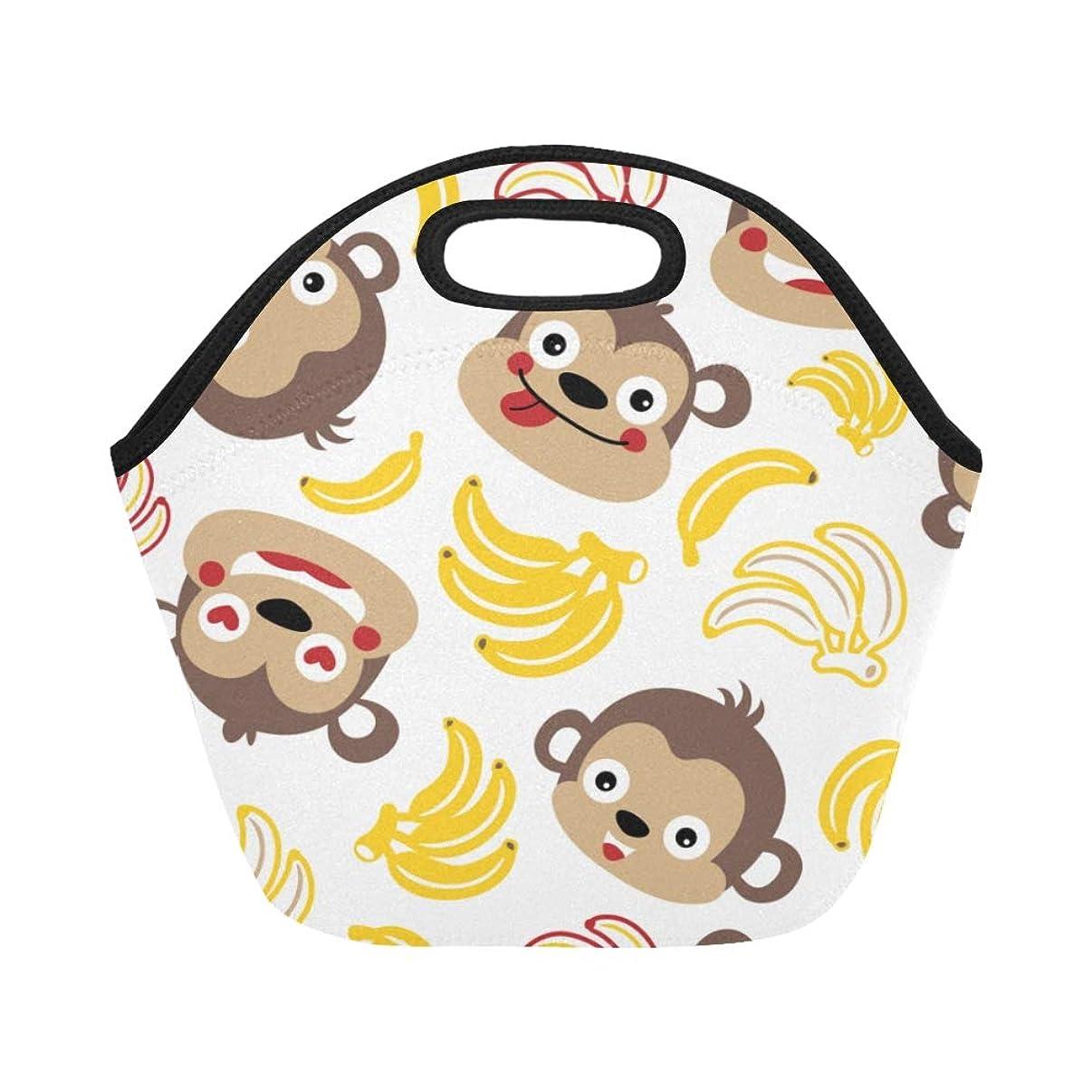 アルファベットゆるく配分XHQZJ ランチバッグ すばやい 猿 弁当袋 お弁当入れ 保温保冷 トート 弁当バッグ 大容量 トートバッグ