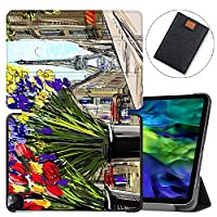"MAITTAO Magnetic Smart Case for iPad Pro 11 inch 2020, Support Apple Pencil Wireless Charging with Auto Sleep/Wake, Leather Stand Cover for New iPad 11"" 2020 A2228 / A2231,Cityscape Painting 6"