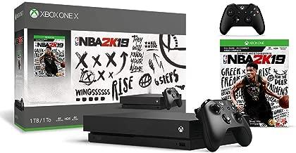 Microsoft Xbox One X 1TB NBA 2K19 Bundle + Xbox One Wireless Controller - Black | Include:Xbox One X 1TB Console ,NBA 2K19 Full-Game, Xbox One Wireless Controller