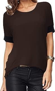 brown blouse short sleeve