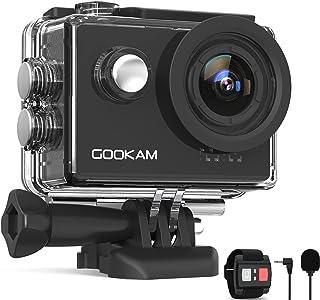Gookam 4K Sportcamera 60 FPS WiFi 20 MP EIS anti-shake 40 m waterdichte sportcamera Ultra HD 170 ° groothoek met 2,4 G afs...