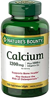 Nature's Bounty Calcium Absorbable 1200 mg with Vitamin D Liquid Filled Soft Gels, 120 Count
