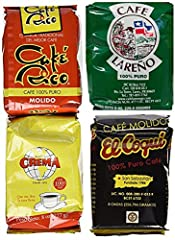 Four of Puerto Rico's favorite coffees. One of each: Lareno, Rico, Coqui and Crema Convenient 8 Ounce Bags, for a Total of 2 Pounds. 100% Puerto Rican Coffee Makes a Great Gift for Coffee Lovers.