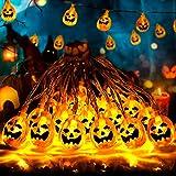 Fenvela de Halloween Decoraciones, 20 LED Calabaza...
