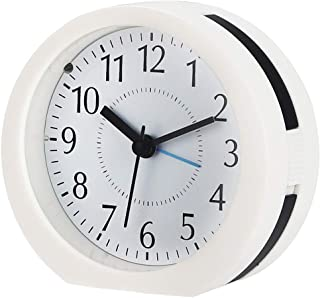 Onioc Non Ticking Analog Alarm Clock with Backlight, Loud Melody Sound, Snooze, Battery Operated. Simple to Set Clocks for Bedroom and Travel
