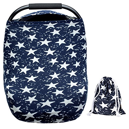 Arnzion Baby Car Seat Covers Baby Boys Girls Versatile Stretchy Babies Car Seat Cover Set Twinkle Stars Printing Infant Car Seat Canopy Nursing Covers Breast Feeding Covers
