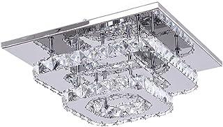 Plafoniera Cristallo a LED, 36W Lampadario Cristallo Moderna, Integrati Lampada da Soffitto per soggiorno Camera da letto ...