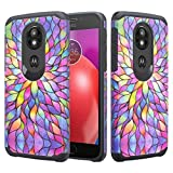 For Motorola Moto E5 Plus Case, Moto E5 Supra Case Phonelicious Slim Fit Phone Cover Shock Proof Defender Protective with Screen Protector (Rainbow Flower)