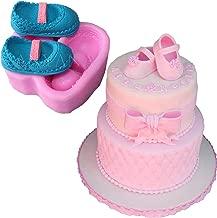 Anyana girl Baby shoes shower christening mould cake Fondant gum paste mold for Sugar paste gumpaste designer cupcake decorating topper decoration sugarcraft décor 7.2 * 7.2 * 2.9cm, 100g aie754a