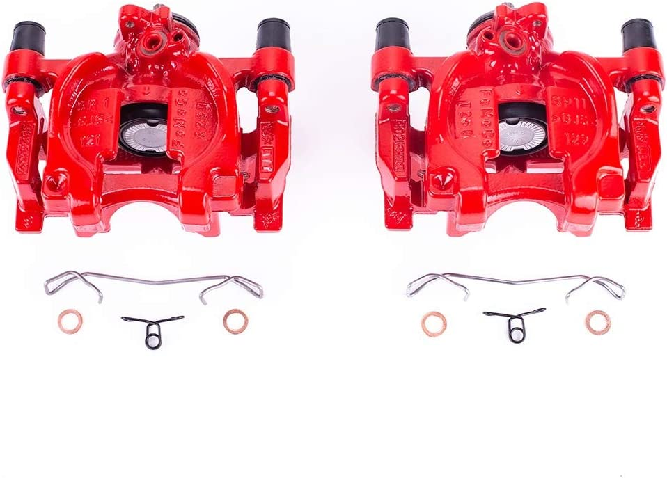 Power Stop S5476 Performance Rear Powder Brake Inexpensive Caliper Coated Se Max 77% OFF