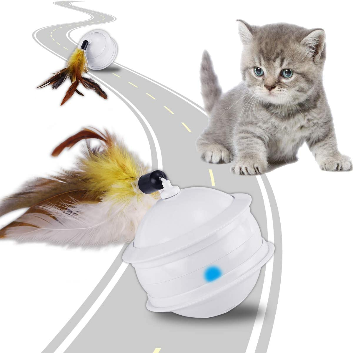 Popularity ENJOY PET Cat Toys for Indoor 360 De Louisville-Jefferson County Mall Interactive Automatic Cats