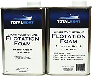 TotalBoat Liquid Urethane Foam Kit 6 Lb Density, Closed Cell for Flotation & Reinforcement (2 Quart Kit)
