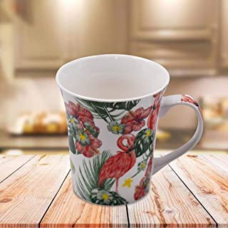Kookee™ Ceramic Coffee Mug, Flamingo Print, Multicolor - 325ml (BPM4051)