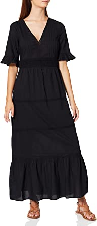 Marca Amazon - find. Vestido Largo Boho de Encaje Mujer