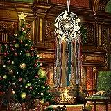 Highpot - Atrapasueños de plumas con luces LED, funciona con pilas, decoración bohemia para el hogar, Moderno, 15x57cm, A