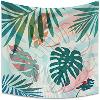 OERJU 51.2x51.2 inch Tropical Palm Leaves Tapestry Summer Tropical Leaf Plants Tapestry Wall Hanging Nature Landscape Tape...