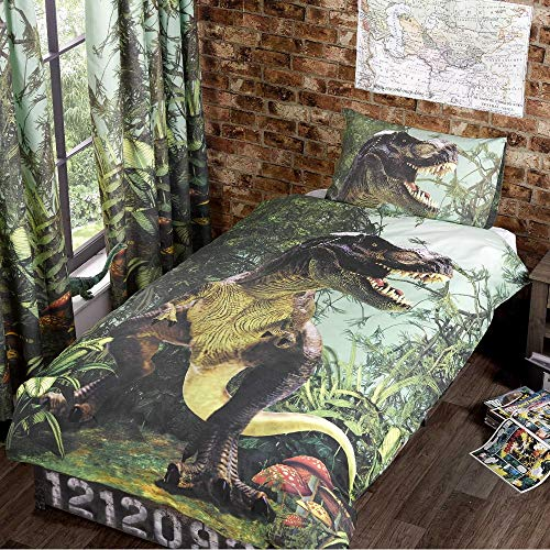 T Rex Single Quilt Duvet Cover Bed Set 1 P/case Dinosaur Bedding Dino Jurassic