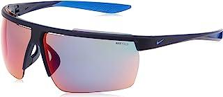 نظارات شمسية للرجال من نايك، ازرق محمر، 75 ملم، نايك ويندشيلد اي سي دبليو