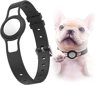 猫 gps 首輪 犬 gps 首輪 for airtag 保護ケース 安全、長さ調節可能 首輪 小型犬 中型犬 首輪 おしゃれ 犬 猫 友達へのプレゼント犬猫調節可能な首輪 (黒)
