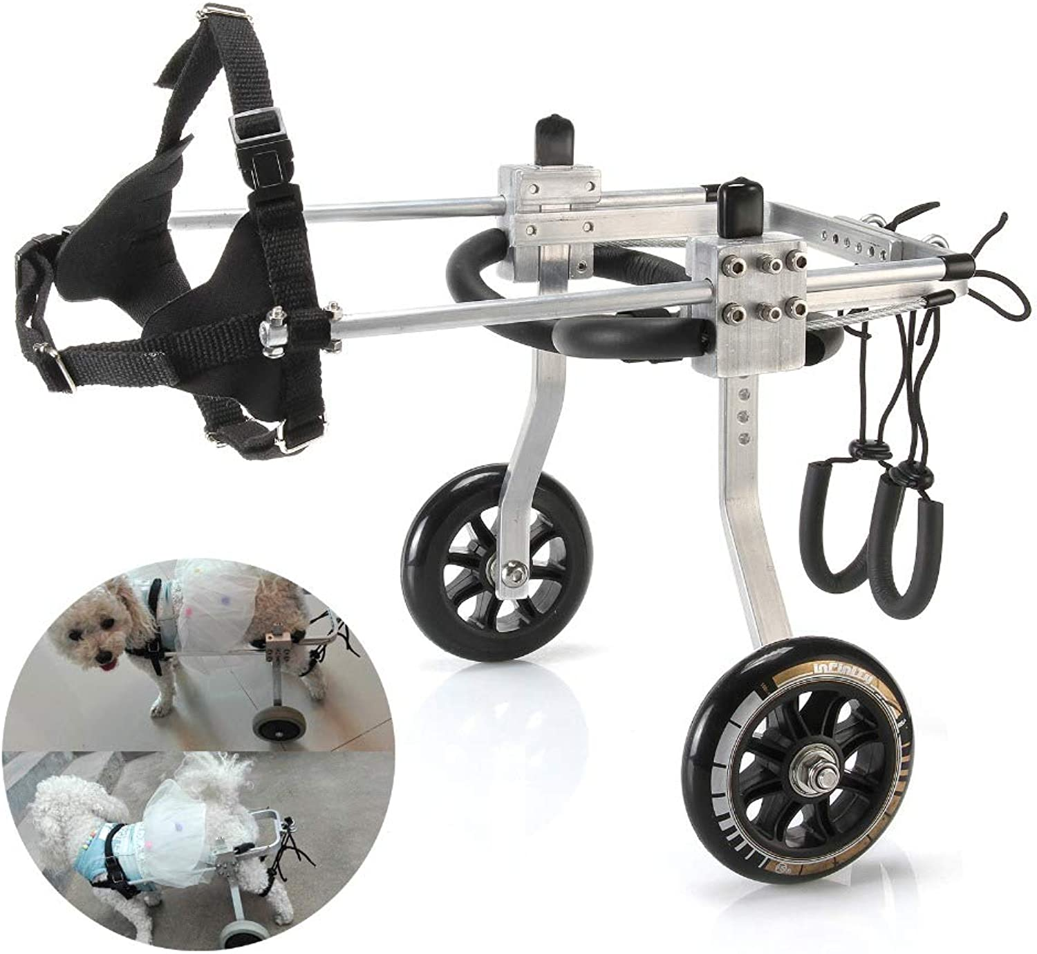 IW.HLMF Pet Wheelchair Paralyzed Pet Wheelchair General Paralysis Dog Scooter Disabled Dog Rehabilitation Wheelchchair,L