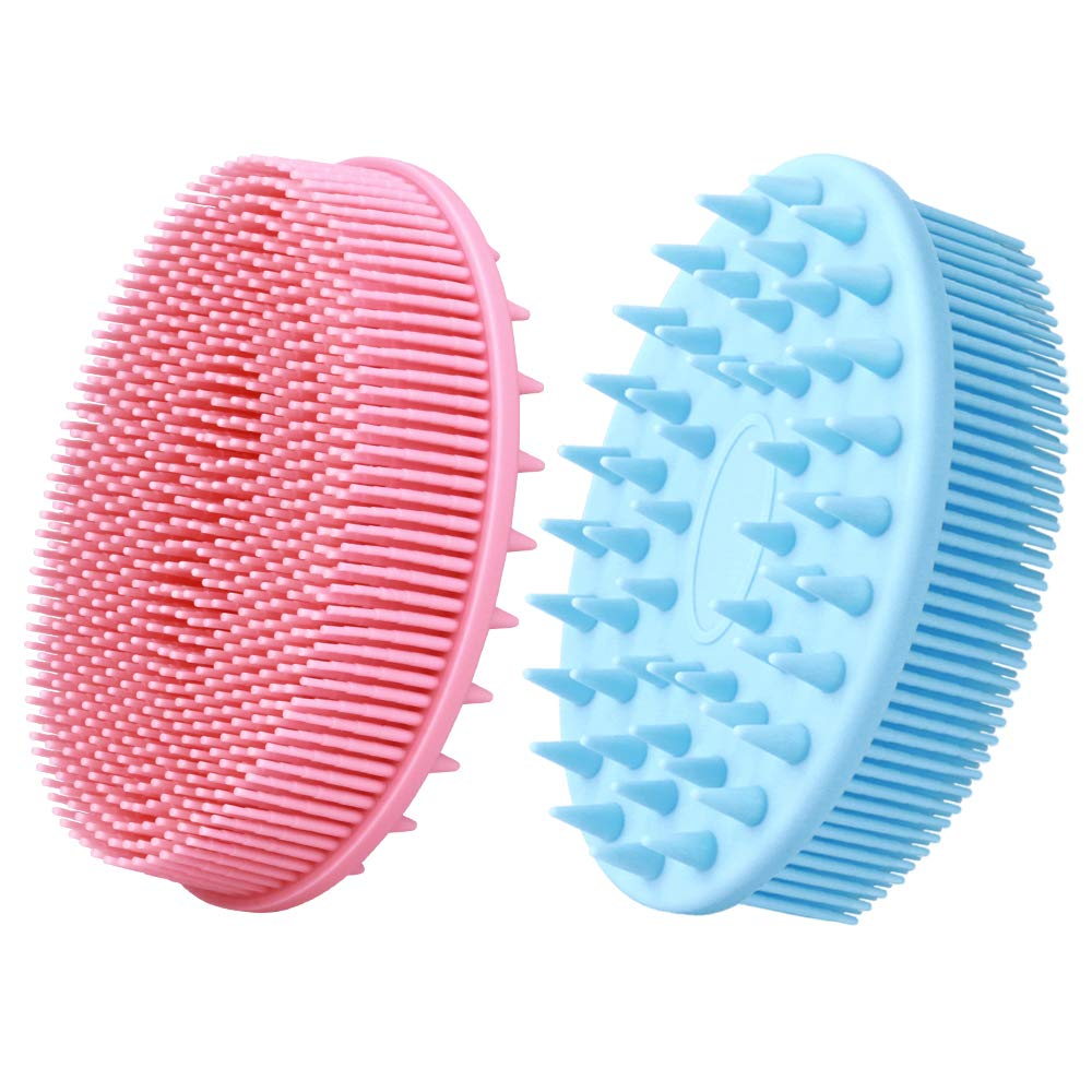Exfoliating Silicone Body Scrubber for 2021new shipping free Max 58% OFF Shower B 2 1 in