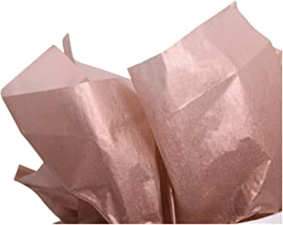"""UNIQOOO 40 Sheets Premium Metallic Rose Gold Gift Wrap Paper Bulk, Great for Gift Bag, 20"""" X 26"""" Each, 100% Recyclable Gif..."""