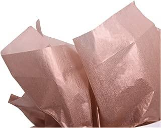 UNIQOOO 40 Sheets Premium Metallic Tissue Gift Wrap Paper Bulk Rose Gold, Great for Gift Bag, 20