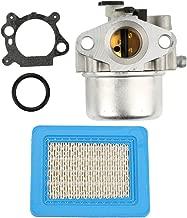 Anzac 799866 Carburetor 491588 Air Filter for Briggs & Stratton Lawnmower 790845 799871 796707 794304 12H800 Engine