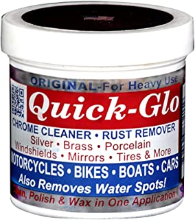 Quick-Glo - Original, 8 oz - Chrome Cleaner & Rust Remover Featured on Jay Leno's Garage Made in The USA & Non Toxic