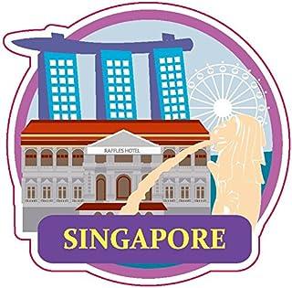Singapur Travel Design Naklejka Wersja. B do dostosowania ulubionych przedmiotów, takich jak walizki