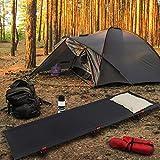 ALPIDEX Ultraleichtes Feldbett Campingbett belastbar bis 120 kg, lediglich 1.820 g inkl. Packsack, Bodenfreiheit 16 cm, minimales Packmaß - 6
