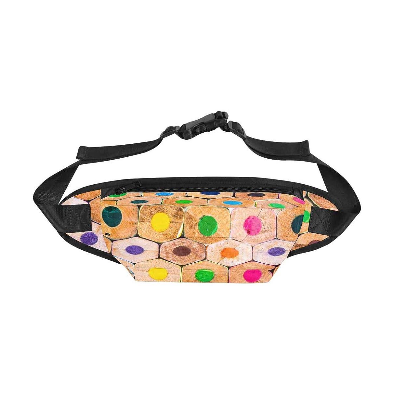 INTERESTPRINT Fanny Pack Travel Pouch for Men & Women, Closeup of Coloured Pencils Travel Bum Bag Waist Packs Belt