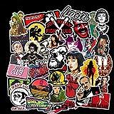 ZNMSB 50 Adesivi per Film Classici Kill Bill Graffiti Adesivi Personalizzati per Casco da Moto Impermeabili