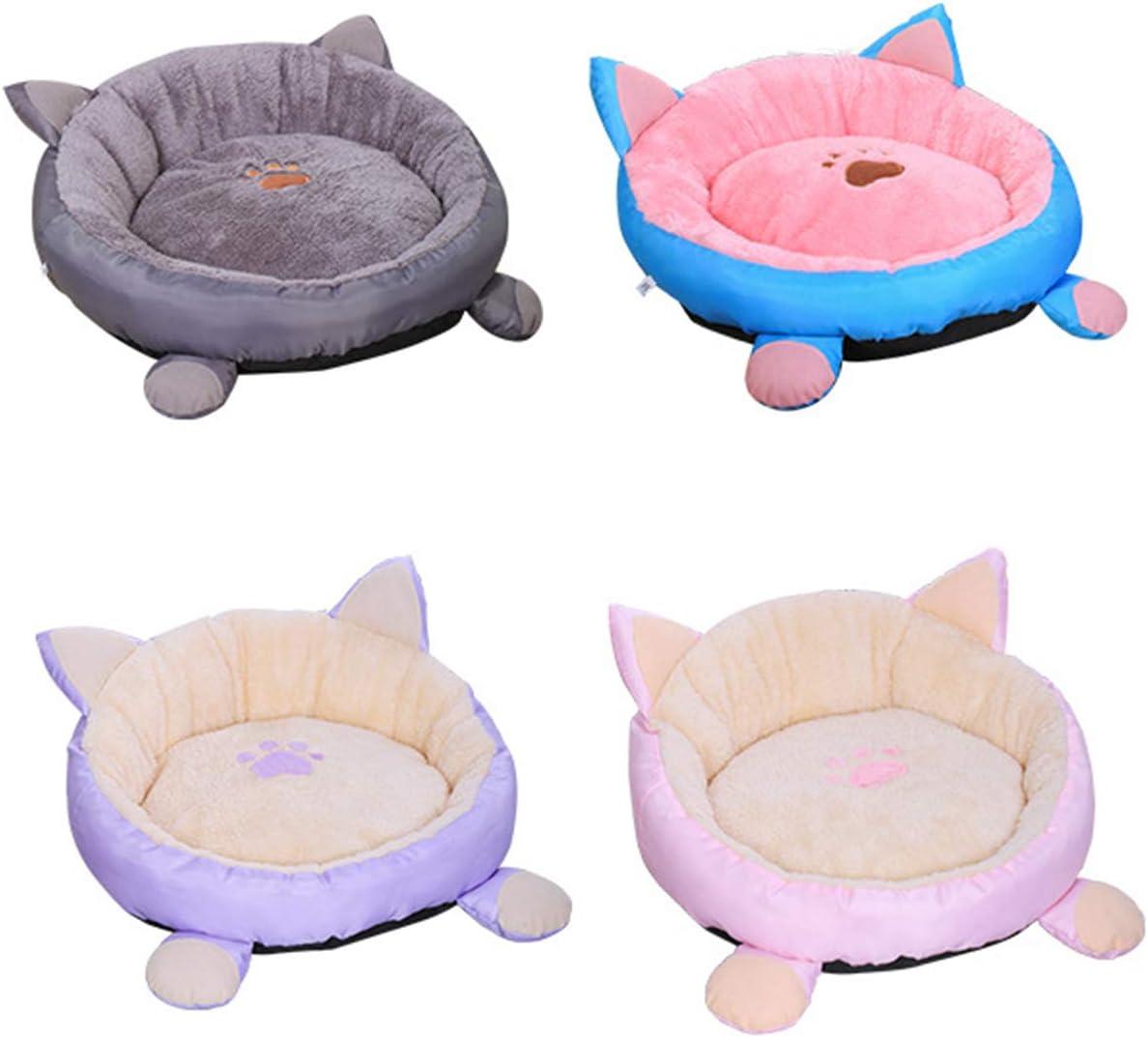 HelloCreate M, gris color gris con fondo antideslizante e impermeable a juego lavable Cama para gato y perro o gato cama cueva para mascotas y gatos redonda con coj/ín a juego