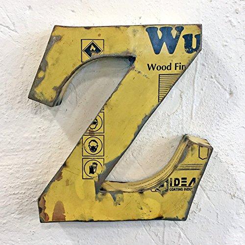 STUFF Loft Metallbuchstaben & Zeichen 3D aus Altmetall Vintage Deko-Buchstaben Höhe 31 cm (Z)