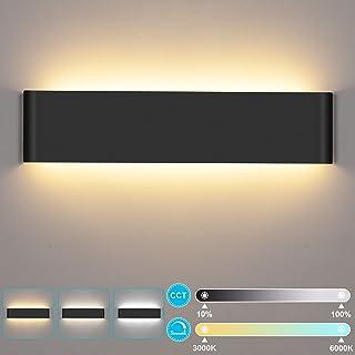 24W Applique Murale Interieur Avec télécommande LUTDK Smart Applique Murale LED 3000-6000K Température de couleur et lumin...