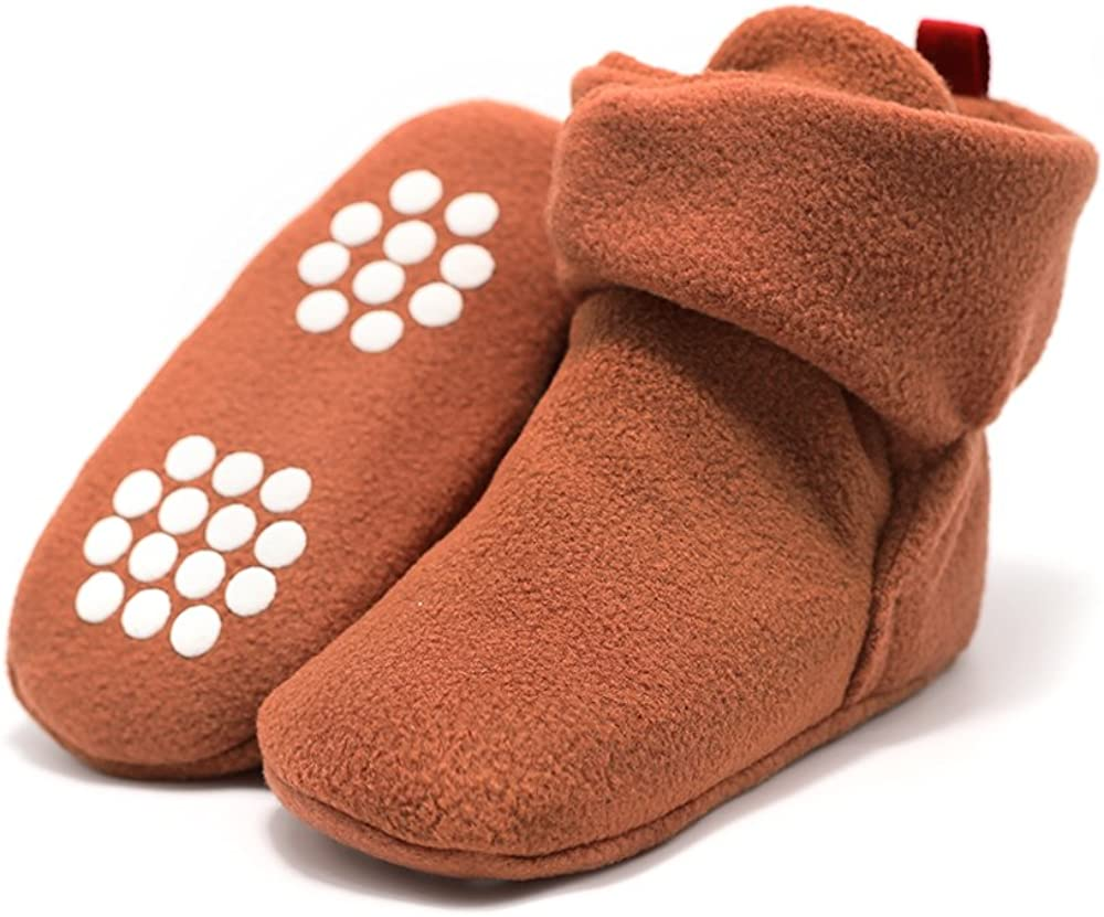 Baby Boys Girls Cozy Fleece Booties On Non Stay Slip Cheap sale Charlotte Mall Sl Grippers