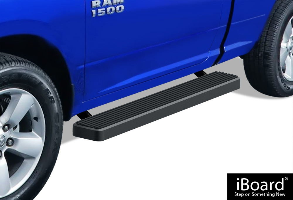 APS iBoard Black Powder Coated 4 inches Running Boards Nerf Bars Side Steps Step Rails Compatible with 2009-2018 Ram 1500 Regular Cab Pickup 2Dr /& 2010-2020 Ram 2500 3500