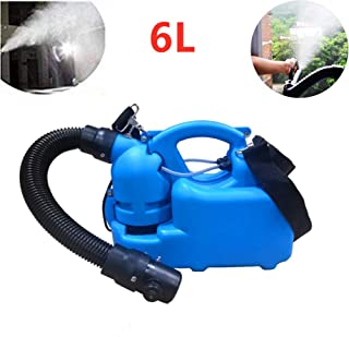 6L Electric Ultra-Micro Atomizer Aerosol Disinfection Fog Machine Disinfection Device Spray Range 6-8M for Homes School Ho...