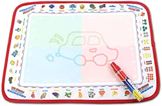 gogomall Portable Water Drawing Doodle Mat, Reusable, No Chemicals, No Mess, Paint with Water, Doodle Board, Educational T...