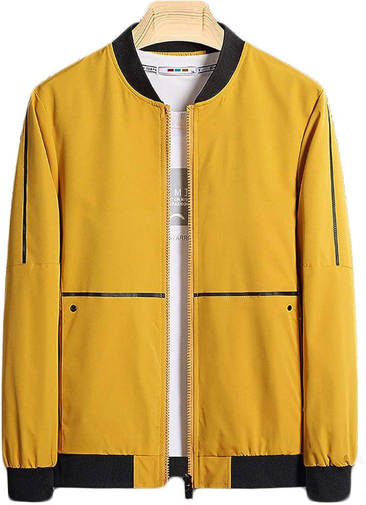 Tebreux Men's Lightweight Jacket Bomber Flight Coat Slim Fit Zipper Jacket